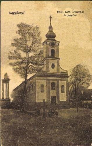 1920-as évek Nagykónyi templom