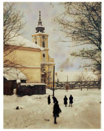 1948elötti templomkép a temető utcáról
