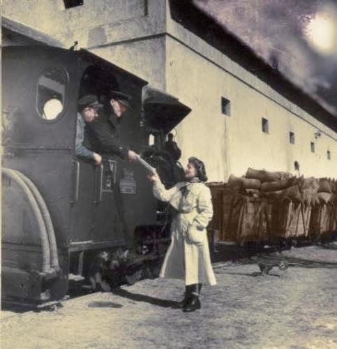 1950es évek Nagykónyi kisvasút Iregszemcsei malomnál