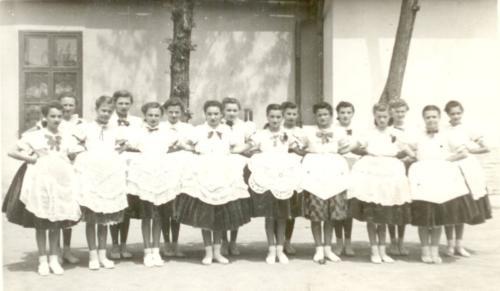 1955 kulturális verseny Tamásiba Nagykónyi tánccsoport